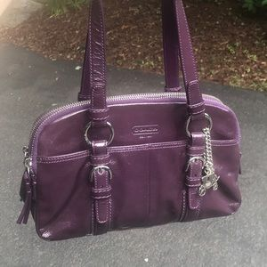 Coach Purple Patent Leather Satchel NWOT